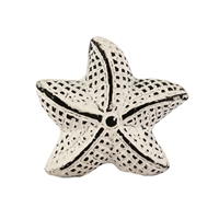 Star Fish Cabinet Knob in Distressed White