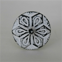 Conical Cabinet Knob in Distressed White