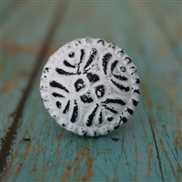 Mushroom Cabinet Knob in Distressed White
