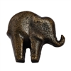 Baby Elephant Cabinet Knob in Antique Brass Finish