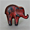 Baby Elephant Cabinet Knob in Red Distressed Finish