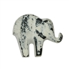 Baby Elephant Cabinet Knob in White Distressed Finish