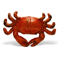 Crab Shaped Cabinet Knob in Distressed Orange Finish