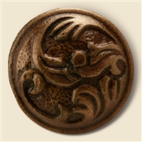 Round Cast Iron Cabinet Knob in Antique Brass Finish