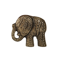 Elephant Metal Cabinet Knob in Antique Finish