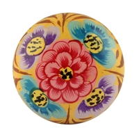 Hand Painted Wooden Cabinet Knob
