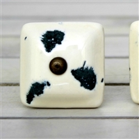 Off White Square Ceramic Knob
