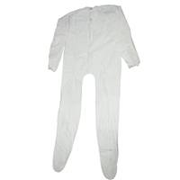White Full Zippered Unionalls
