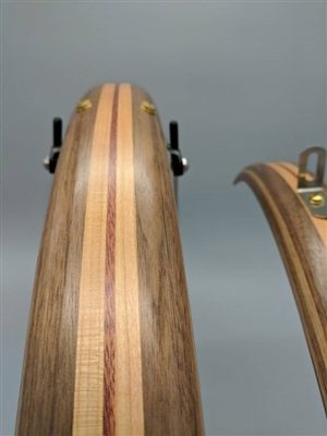 Walnut with Cherry Racing stripe