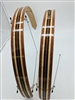 Ready to ship- Leopard wood with wide Maple stripes 26""