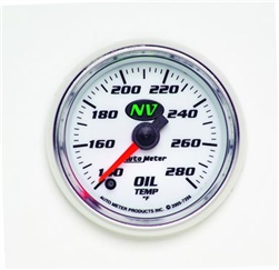 "Auto Meter NV Series Analog Oil Temperature 2 1/16"" Gauge; 140-280 Degrees 7356"
