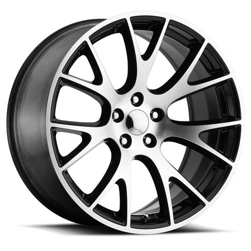 factory reproductions hellcat replica wheels black machine Street Kings Dodge Charger SRT8 frhcblm 2