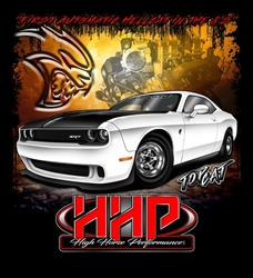 High Horse Performance Branded T-Shirt -  HHP TopCat Challenger, Short Sleeve Tee Shirt - 1603