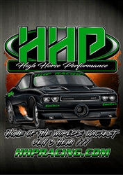 High Horse Performance Branded T-Shirt -  HHP Rob Goss Green, Short Sleeve Tee Shirt - INCLUDES SHIPPING!