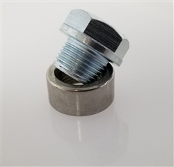 Vibrant Stainless Steel O2 Sensor Bung and Steel Plug w/USPS Shipping (Thread Size 18mm x 1.5) - VIB1194-5A