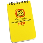 RITR 125 All-Weather Fire Incident Report Notebook