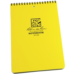 RITR 169 All-Weather Universal Spiral Notebook, Yellow