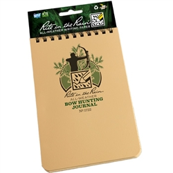 "Rite in the Rain 1722 All-Weather Bow Hunting Journal, Tan, 4"" x 6"""