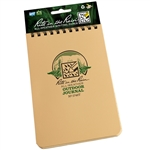 "RITR 1746T All-Weather Outdoor Journal, Tan, 4"" x 6"""