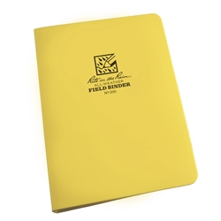"RITR 200 All-Weather 1/2"" Capacity Field Ring Binder, Yellow"