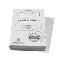 "Rite in the Rain 208511GY All-Weather Copier Paper, Gray, 8.5"" x 11"" - 500 Sheets"