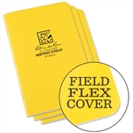 Rite in the Rain 361FX All-Weather Stapled Notebook, Metric Field - 3 pack