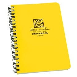"Rite in the Rain 373 All-Weather Universal Polydura Spiral Notebook, 4 5/8"" x 7"""