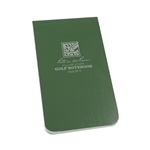 RITR 4 All-Weather Golf Notebook, Green
