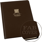 "Rite in the Rain 470F-LG All-Weather Fabrikoid Universal Book, Brown, 6"" x 8"""
