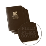 Rite in the Rain 471FX-M All-Weather Mini Stapled Notebook, Universal, Brown - 3 pack