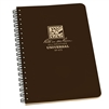 "Rite in the Rain 473 All-Weather Universal Polydura Spiral Notebook, Brown, 4 5/8"" x 7"""
