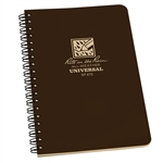 RITR 473 All-Weather Universal Spiral Notebook, Brown