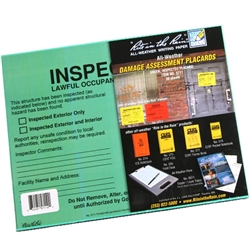 RITR 5711 All-Weather Safety Assessment Placard, Inspected