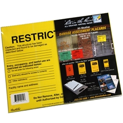 Rite in the Rain 5712 All-Weather Safety Assessment Placard, Restricted
