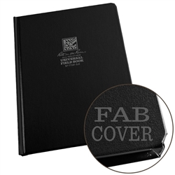 "Rite in the Rain 770F-LG All-Weather Fabrikoid Universal Book, Black, 6"" x 8"""