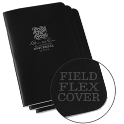 RITR 771FX All-Weather Universal Stapled Notebooks, Black