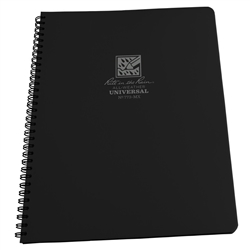RITR 773-MX All-Weather Universal Spiral Notebook, Black