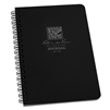 "Rite in the Rain 793 All-Weather Journal Polydura Spiral Notebook, Black, 4 5/8"" x 7"""