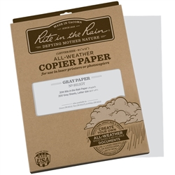 "Rite in the Rain 8511GY All-Weather Copier Paper, Gray, 8.5"" x 11"" - 200 Sheets"