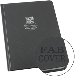 "Rite in the Rain 870F-LG All-Weather Fabrikoid Universal Book, Gray, 6"" x 8"""