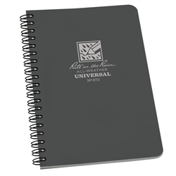 "Rite in the Rain 873 All-Weather Universal Polydura Spiral Notebook, Gray, 4 5/8"" x 7"""