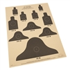 "Rite in the Rain 9127X All-Weather 25 Meter Targets, 17"" x 22"" - 10 Sheets"
