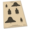 "Rite in the Rain 9128X All-Weather 25 Meter Targets, 17"" x 22"" - 10 Sheets"