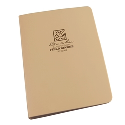 "RITR 9200T All-Weather 1/2"" Capacity Field Ring Binder, Tan"