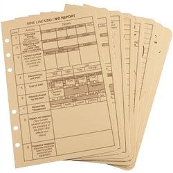 "Rite in the Rain 9200T-R All-Weather Tactical Reference Cards, Tan, 4 5/8"" x 7"""