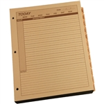 RITR 9260D-MX All-Weather Daily Calendar Pages, Tan