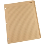 "Rite in the Rain 9271-MX All-Weather Generic Tab Set, Tan, 8.5"" x 11"""