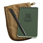 Rite in the Rain 935-Kit All-Weather Universal Spiral Notebook Kit, Green/Tan
