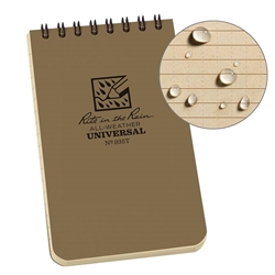 Rite in the Rain 935T All-Weather Universal Spiral Notebook, Tan