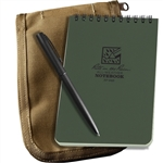 Rite in the Rain 946-Kit All-Weather Universal Spiral Notebook Kit, Green/Tan